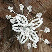 Flower Hair Pins - Pearl & Crystal Hair Accessories - Bridal Hair Accessories