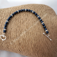 Navy Pearl Bracelet - Bridesmaids Jewellery - Bridal Accessories -
