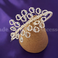 Vintage Tiara - Pearl & Crystal Tiara - Wedding Hair Accessories - Bridal