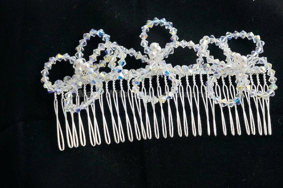 Flower Comb - Bridal Hair Accessories - Bridesmaids Accessories - Wedding