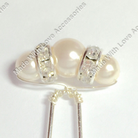 Pearl Hair Pins - Pearl Bobby Pins - Bridal Hair Accessories - Wedding Accessory