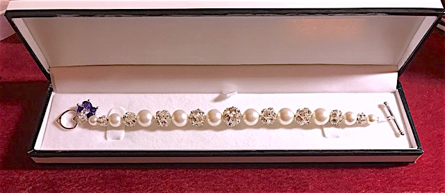 Pearl & Disco ball Bracelet, Mother's Day Gift,Bridal Jewellery, Bridesmaids