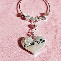 Bride To Be Wine Glass Charm