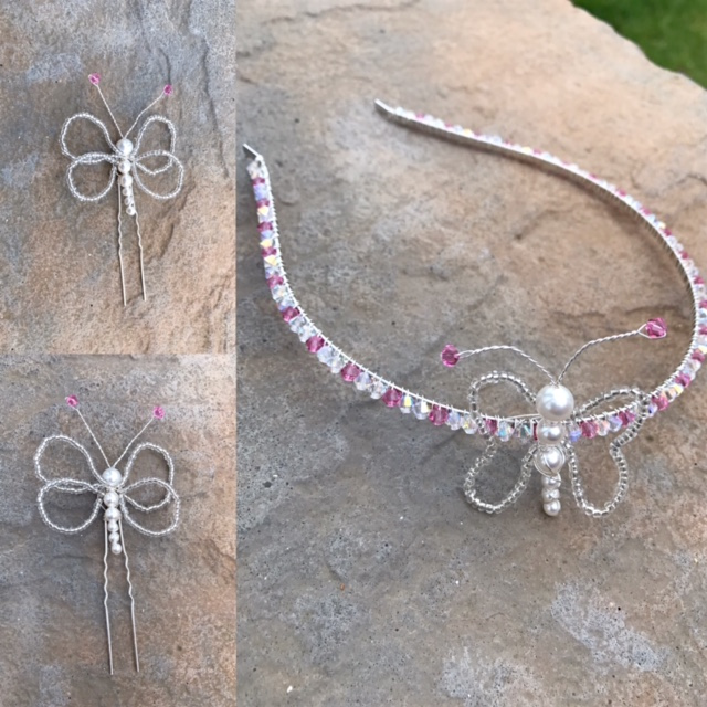 Butterfly Tiara - Bridesmaid Hair Accessories - Wedding Accessories -