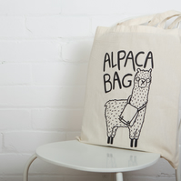 Alpaca Bag - Tote Bag - reusable bag - bag for life - Katie Abey