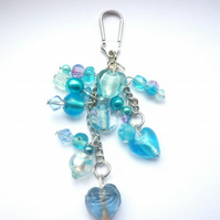 Turquoise cluster bag charm