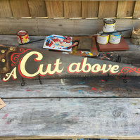 'A Cut above' hand-painted vintage saw