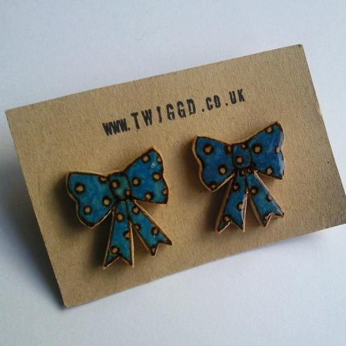 Polka Dot Bow Earrings