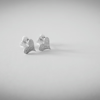 Sterling silver heart shaped studs