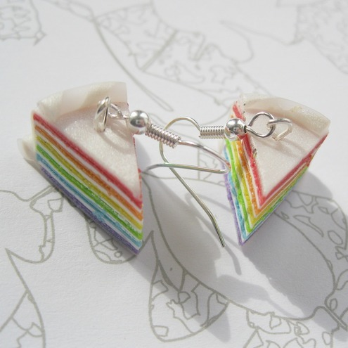 Rainbow Cake Earrings!!!!
