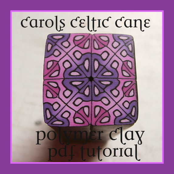 SALE was 6.00 now 3.00 Carols Celtic Cane Polymer Clay Tutorial