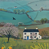 Print on paper of a landscape in spring from my image 'Across Spring Hills'