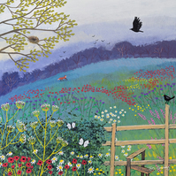 Canvas print from my painting 'Over the Stile'
