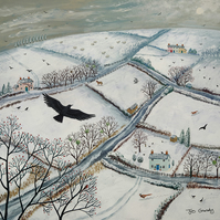 Canvas print from my painting 'As the Crow Flies'