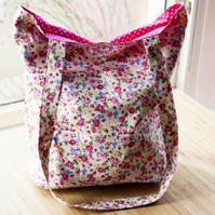 Tote Bag - Flowers - Magenta
