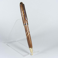 'American Black Walnut pen with Sycamore accents' (P019)