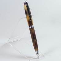 Streamline Ballpoint Pen in Chrome made with 'Leopard' Acrylic (P023)