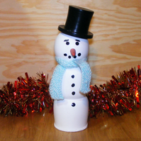 Fun handmade Snowman with Scarf & Hat - Christmas Decoration