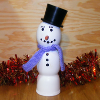Snowman Christmas Decoration - A bit of fun at Christmas  Handmade in Derbyshire