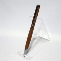 Budget Pen. Chrome plated fittings Black Walnut. Lacquer finish. (P032)