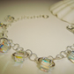 Bracelet Swarovski elements crystals hand made silver shining wedding