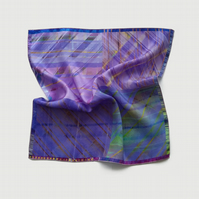Purple pocket square, violet pink wedding handkerchief, groomsmen gifts