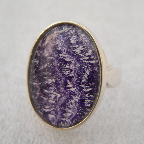 Blue John Sterling Silver Ring 18x13mm
