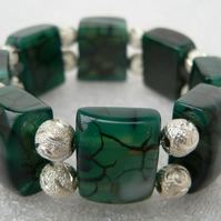 ONE DAY SALE!! Dragon Vein Agate Cuff Stretch Bracelet