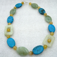 Jade, Agate and Jasper Spring Necklace