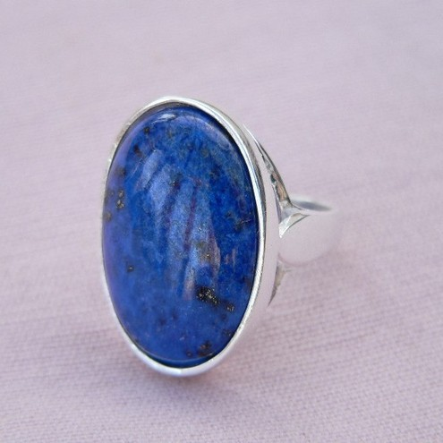 lapis lazuli sterling silver ring 18x13 folksy