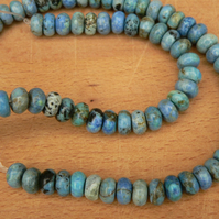 Larimar Rondelle Beads 8x4mm
