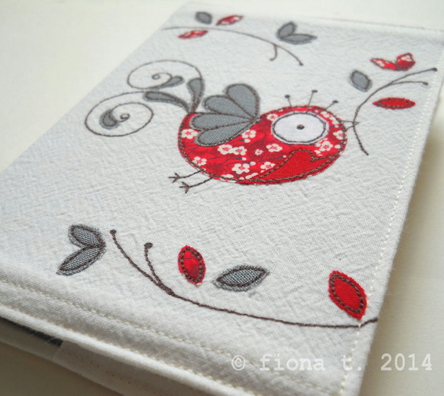 embroidered peace dove notebook