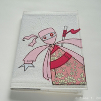embroidered zombie ninja notebook