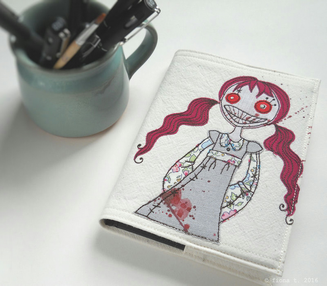 embroidered zombie sketchbook