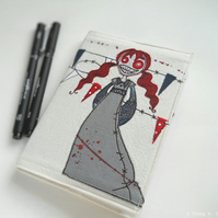 freehand embroidery zombie notebook