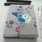 freemotion embroidered floral bird notebook A6 sketchbook
