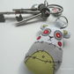 free machine embroidery fabric bagcharm keyring zombie panda green