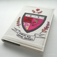 freehand embroidered notebook A6 sewing coat of arms pink