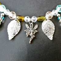 Fairy & Silver Leaf Necklace