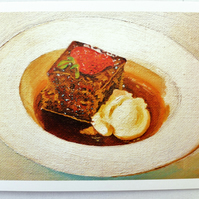 Greeting Card- Treacle Toffee Pudding