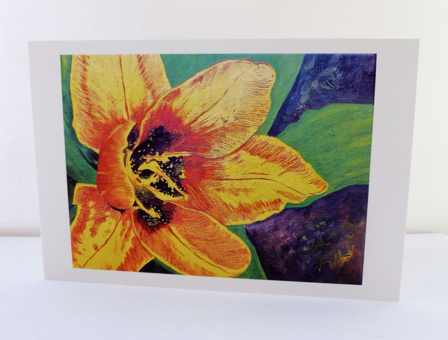 Greeting Card- Shine Of a Flower