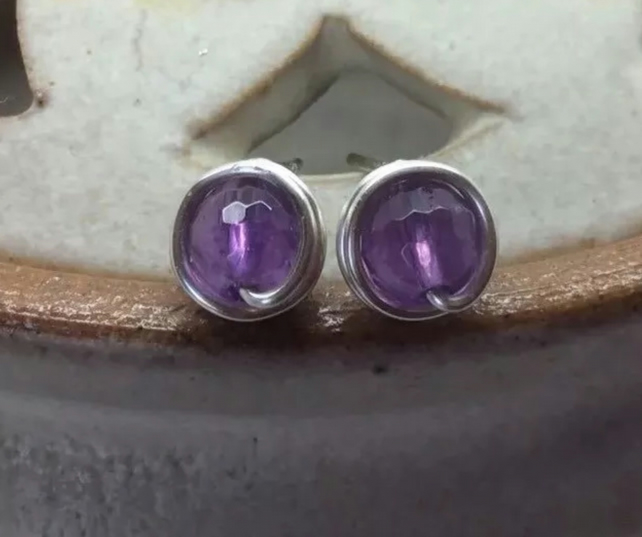 white color earrings fashion stud amethyst diamond gold gabriel