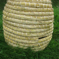 Straw Bee Skep, Eco-friendly, Traditional straw Bee Hive, swarm skep, beekeeping