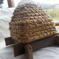 French Style Beehive miniature for container or display indoors or outside