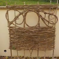Wattle hurdle, traditional woven natural panel fence, screen, designs available