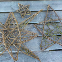 Natural Willow Star, panel, wicker, wall hanging, home, garden, Ready Now