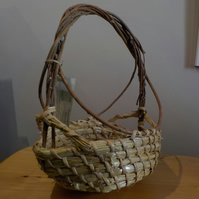 Natural container,  basket straw and willow traditional craft
