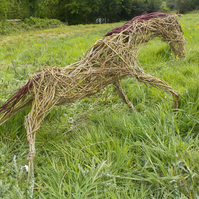 Horse, pony, woven willow. animal sculpture, custom order, voucher