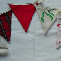 Mistletoe and Scandi style squirrel Christmas bunting