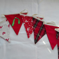 Tartan and red mistletoe bunting